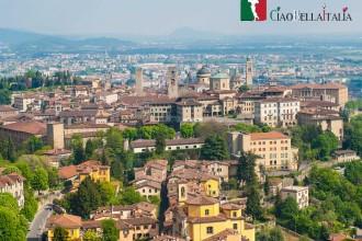 panorama di Bergamo alta